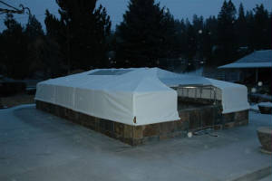 Winter pond covers for Koi pool cover